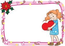Glad julkortgränsram Arkivbild