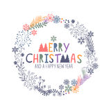 Glad julkran royaltyfri illustrationer