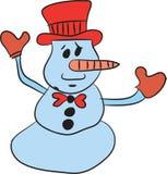 Glad julsnowman Fotografering för Bildbyråer