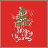 Glad julsong Arkivbilder