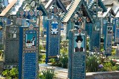 glad kyrkogård Arkivfoto