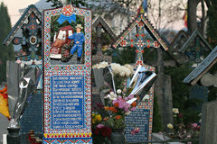 glad kyrkogård Royaltyfri Bild