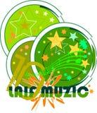 glad musik royaltyfri illustrationer