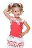 Glad nätt liten flicka Fotografering för Bildbyråer