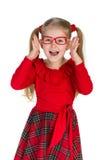 Glad nätt liten flicka Royaltyfri Fotografi