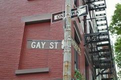 glad ny gata york för stad Arkivbilder