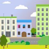 Glad ontwerp een stadsstraat Vector Vector Illustratie