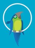 glad papegoja Arkivbilder