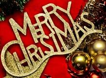 glad red för julguld Arkivbild