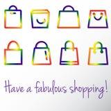 Glad shopping Arkivfoton