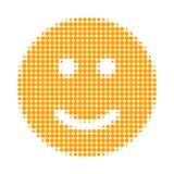 Glad Smiley Halftone Dotted Icon vector illustration