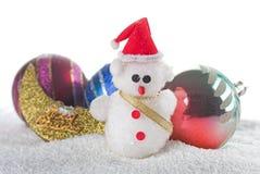 glad snowman för jul Arkivbild
