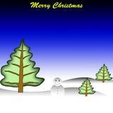 glad snowman för jul Arkivfoto