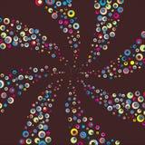 glad spiral vektor Arkivbild
