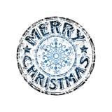 glad stämpel för jul Arkivfoto