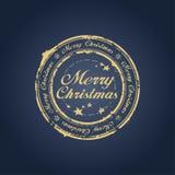 glad stämpel för jul royaltyfri illustrationer