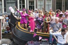 Glad stolthet Amsterdam 2015 arkivbilder
