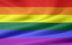 glad stolthet för flagga Arkivbilder