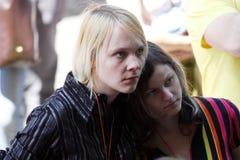 Glad stolthet i Riga 2008 Arkivbild