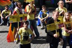 Glad stolthet i Riga 2008 Arkivbilder