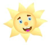 glad sun stock illustrationer