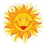 glad sun Royaltyfri Illustrationer