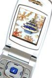 glad telefon för jul Arkivbild