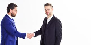 Glad to meet you. Thank you for cooperation. Collaboration of business people. Men shaking hands. Handshake sign of. Successful deal. Business meeting. Business stock photo