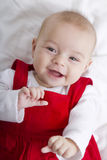 Glad to See You. 3 Months old girl smiling with no fear, waiting her teeth and hair to grow Royalty Free Stock Image