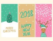 glad vektor för jul Royaltyfria Bilder