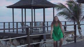 Glad video från semester stock video