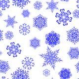 Glad vinterbakgrund från härliga snöflingor seamless modell också vektor för coreldrawillustration Royaltyfria Foton