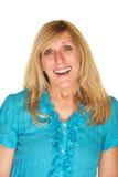 Glad Woman med leende Royaltyfria Bilder