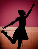 Glad young dancer on the dance floor Stock Photo