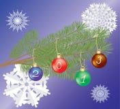 Glada Cristmas & nytt år Arkivfoto