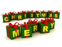 glada julgåvor Arkivfoto