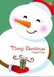 glada julhälsningar Royaltyfri Bild