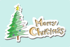 glada julhälsningar Arkivfoto
