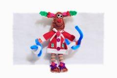 glada julhjortar Fotografering för Bildbyråer