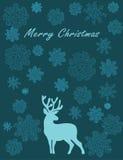 glada julhjortar Royaltyfria Foton