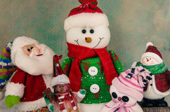 Glada julsymboler Royaltyfria Bilder