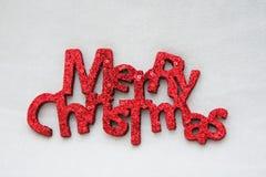 glada ord för jul Arkivfoto