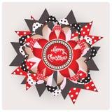 Glada smycken för juldesignpapper Royaltyfri Foto