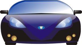 Gladde Blauwe Sportwagen Stock Foto's