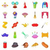 Gladden icons set, cartoon style Royalty Free Stock Photography