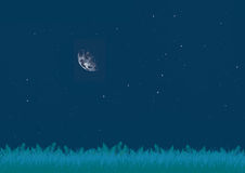 Glade alla notte Fotografia Stock