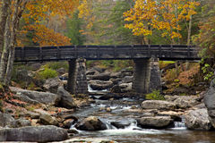 Glade Creek Bridge in Autumn Stock Photography