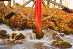 Glade creek grist mil royalty free stock image