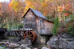 Glade creek grist mil. L in autumn time  in West Virginia Stock Image