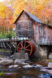 Glade creek grist mil. L in autumn time  in West Virginia Royalty Free Stock Photography